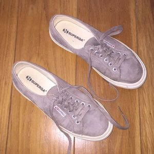 Superga ⏺ Suede ⏹ Shoes Gray Size 8